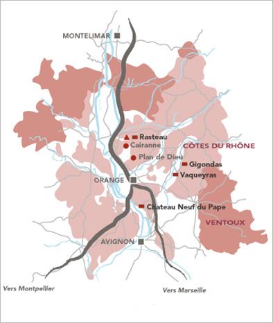 Rasteau dans les Côtes du Rhône